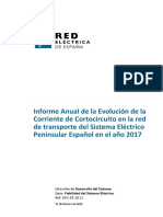 InformeAnual Evolucion Corriente Cortocircuito SEPE 2017