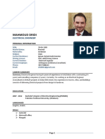 CV- Mahmoud Dridi- Electrical Engineer 1