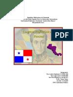 El Congreso Anflictionico de Panamá Trabajo