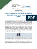 CC Comunicado Final Acosta Arevalo