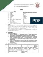 SILABO Diseño de Elementos de Máquinas II, Nuevo