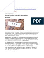Tax Reduction for Economic Development