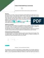 Valoraciones Potenciometricas Acido-Base
