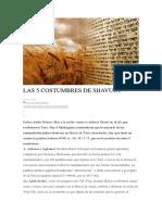 Las 5 Costumbres de Shavuot