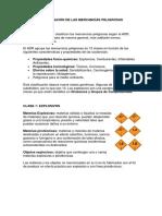 Clasificación de Las Mercancías Peligrosas y Decisiones de Transporte