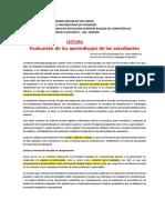 Evaluación de Los Aprendizajes ES-UMSS
