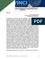 Nível de Obesidade, Qualidade de Vida e Atividade Física Em Escolares Do Ensino Fundamental II, Em Duas Escolas de Curitiba-pr