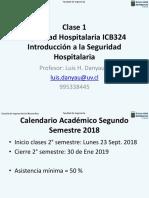 Clase 1 Seguridad Hospitalaria Intro 26 Sept. 2018