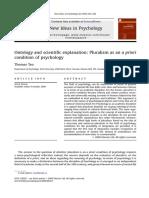 El Pluralismo Como Un Condición Para La Psicología