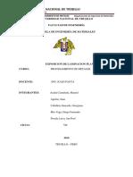 Informe de Laminacion Plana