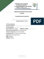 Planificacion de Proyectos Escolares 2019 Nuvia
