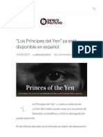 """""""Los Príncipes Del Yen"""" Ya Está Disponible en Español - Dinero Positivo"""