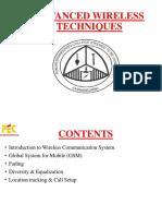 Advanced Wireless Techniques