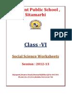 VI Social-Science-Worksheets SA1&2 2012 2013 (1)