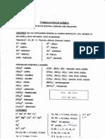 Tabla de formulación