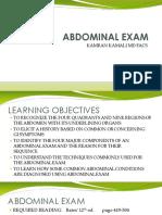 Abdominal Exam Outline