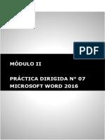 Practica Dirigida 7 . Ms. Word Avanzado Estilos Microsoft Word