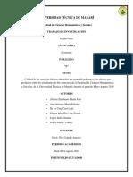 Calidad y Efectos de Los Servicios Básicos
