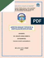 ..Aspectos Legales y Eticos en La Hospitalizacion Involuntaria..