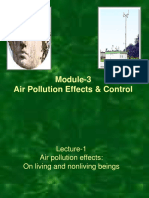Air Pollution Effects and Control