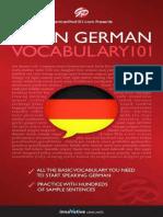 Learn German - Vocabulary 101.epub