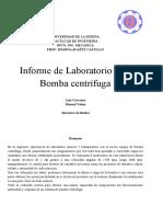 Informe de Laboratorio N°5 Bomba centrífuga