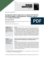 Desregulación Afecto-cognoscitiva en Organización Limítrofe