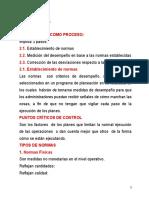 Clase 13, El Control