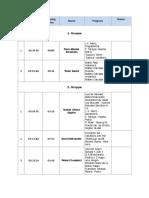Timetable Children 2018