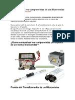 Como probar los componentes de un Microondas.docx