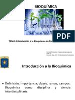 BIOQUIMICA CLASE N°1. Introducción a la Bioquímica de los Alimentos.