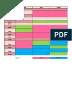 Modelo de horarios