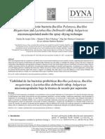 Artículo Microencapsulación Bacterias Acidolácticas