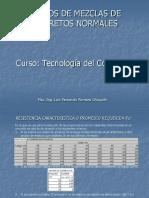 Diseño de Mezclas de Concretos Normales