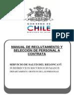 Manual de Reclutamiento y Selección de Personal a Contrata. Ministerio de Salud. Chile