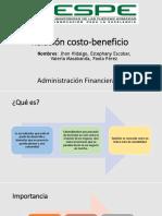 Exposicion Relacion Costos Beneficio