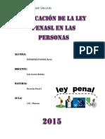 Aplicacion de La Ley Penal en Las Personas