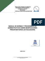 Manual de Modificaciones Presupuestarias