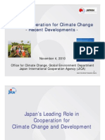 JICA's Cooperation for Climate Change-Recent Developments