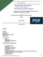 COSAVE ERPF 4.1.1. Requisitos de Infraestructura , Personal y Procedimientos Operacionales de Laboratorios de Cuarentena de ACBs