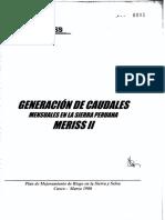PDF Generacion de Caudales Mensuales en La Sierra Peruana Meriss II Ok