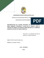 IMPLEMENTACION DEL SISTEMA INTEGRADO DE GESTION, CALIDAD, MEDIO AMBIENTE, SEGURIDAD Y SALUD EN EL.pdf