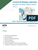 Tema 7 Planes de Emergencia y Autoproteccion