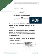 China-Philippines Extradition Treaty