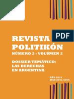 Revista Politikon N°2 Vol 2 Dossier