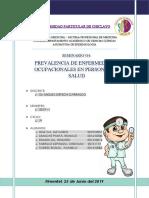 Seminario Nº 04 - Prevalencia de Enfermedades Ocupacionales en Personal de Salud