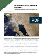 Las Estelas de Los Aviones Afectan Al Clima Más Que Sus Emisiones de CO 2 - Ciencia - EL PAÍS