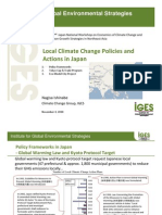 Local Climate Change Policies and Actions in Japan