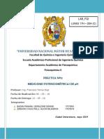 Mediciones potenciométricas de pH