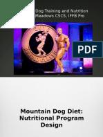 mountin dog diet